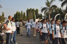 School boys participating in rally