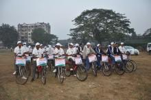 All voting member ready for cycle rally